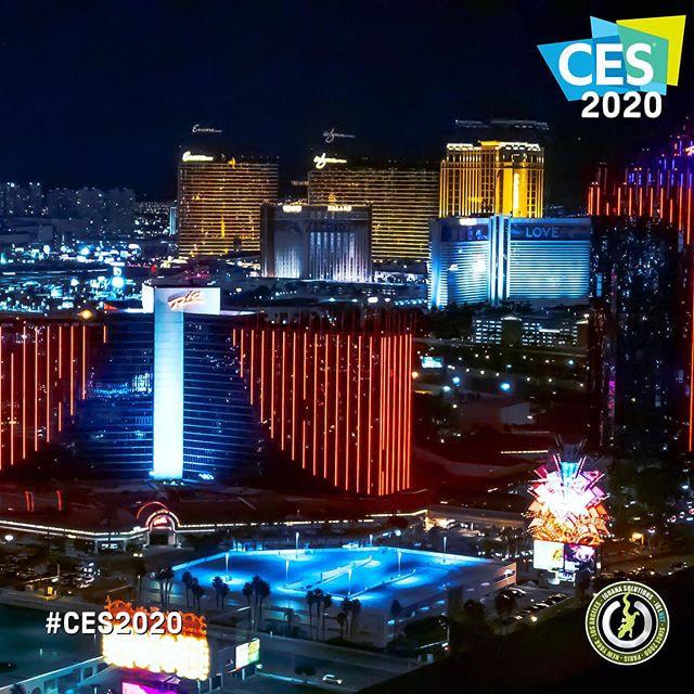 CES 2020 Las Vegas de nuit
